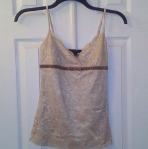 Gold lace express tank top